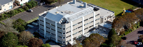 Aerial view of Plymouth Marine Laboratory building